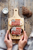 Sandwich with image of american flag Royalty Free Stock Photos