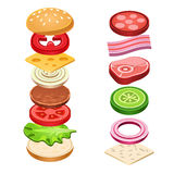 Sandwich Ingredients Food Vector Illustration Royalty Free Stock Image