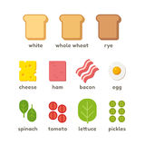 Sandwich ingredients illustration Stock Photo