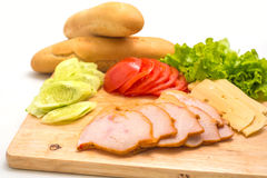 Sandwich ingredients Royalty Free Stock Image