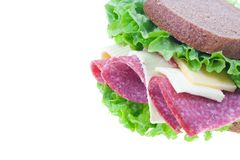 Sandwich isolated Stock Images