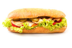 Sandwich Isolated On White Royalty Free Stock Photography