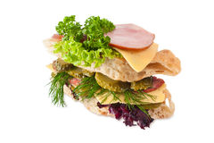 Sandwich isolated on white Royalty Free Stock Image