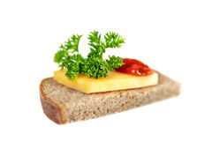 Sandwich, isolated on  white background. Stock Photos