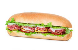 Sandwich isolated on white Royalty Free Stock Images