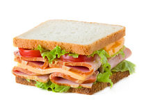 Sandwich isolated on white Stock Photography