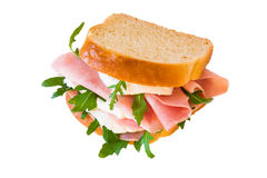 Sandwich isolated on white background Stock Images