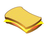 Sandwich isolated on white, vector Stock Photo