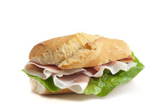 Sandwich with italian ham  Royalty Free Stock Images