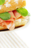 Sandwich with Italian prosciutto Royalty Free Stock Photo