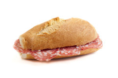 Sandwich with italian salami  Royalty Free Stock Photography