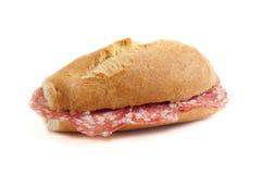 Sandwich with italian salami  Royalty Free Stock Photography