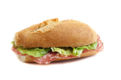 Sandwich with italian salami Stock Photo