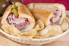Sandwich italien à style Photographie stock