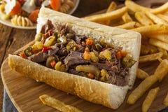 Sandwich italien chaleureux à boeuf Photo stock