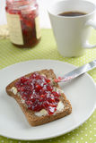 Sandwich with jam Stock Images