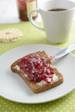 Sandwich with jam Royalty Free Stock Photo