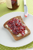 Sandwich with jam Stock Image