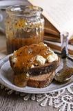 Sandwich with jam Stock Image