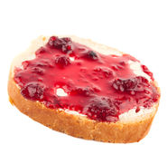 Sandwich with jam Royalty Free Stock Photos