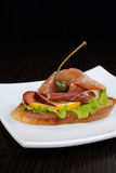 Sandwich with jamon Royalty Free Stock Image
