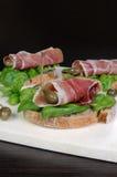 Sandwich of jamon Royalty Free Stock Photo