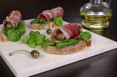 Sandwich of jamon Stock Photo