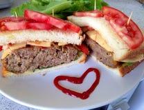 Sandwich japonais à hamburger Photographie stock libre de droits