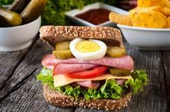 Sandwich juteux image libre de droits