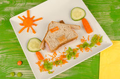 Sandwich for kids Royalty Free Stock Photography