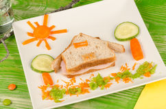 Sandwich for kids Stock Image