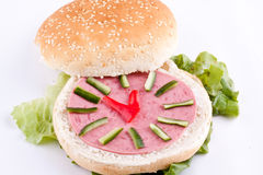 Sandwich for kids Stock Images