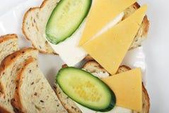 Sandwich léger à matin image libre de droits