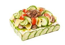 Sandwich Layer Cake Stock Photography