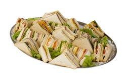 Sandwich-Lebesmittelanschaffung-Mehrlagenplatte Lizenzfreies Stockfoto