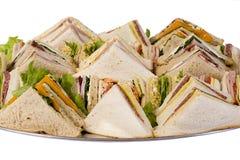 Sandwich-Lebesmittelanschaffung-Mehrlagenplatte lizenzfreie stockbilder
