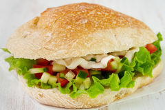 Sandwich with lettuce, tomato Royalty Free Stock Photo