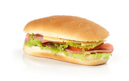 Sandwich with lettuce, tomatoes, and ham Stock Photography