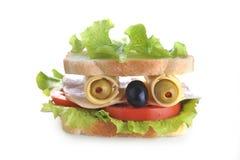 Sandwich looks like face Stock Photo