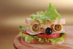 Sandwich looks like face Stock Image