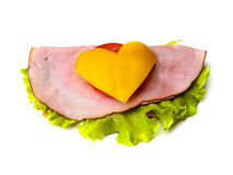 Sandwich with love Royalty Free Stock Photo