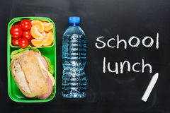 Sandwich in lunch box Stock Image