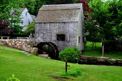 Sandwich, MA: 1637 Dexter Grist Mill Royalty Free Stock Photo