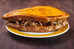 Sweet potato and pulled pork Royalty Free Stock Image