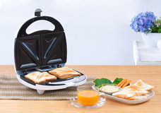 Sandwich maker. Great and convenience kitchenware Royalty Free Stock Photo