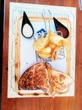 Sandwich makloub stock foto's