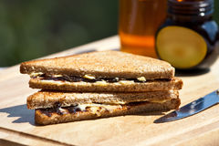 Sandwich with marmite Royalty Free Stock Images