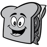 Sandwich Mascot Illustration Royalty Free Stock Images