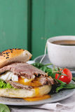 Sandwich with meat and egg Stock Images