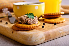 Sandwich with meat pate Royalty Free Stock Photography